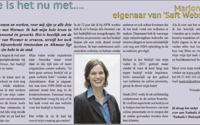 Interview in de Aktief Wormer aug 2014