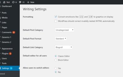 Veilig updaten naar WordPress 5.x en behoud van de oude editor